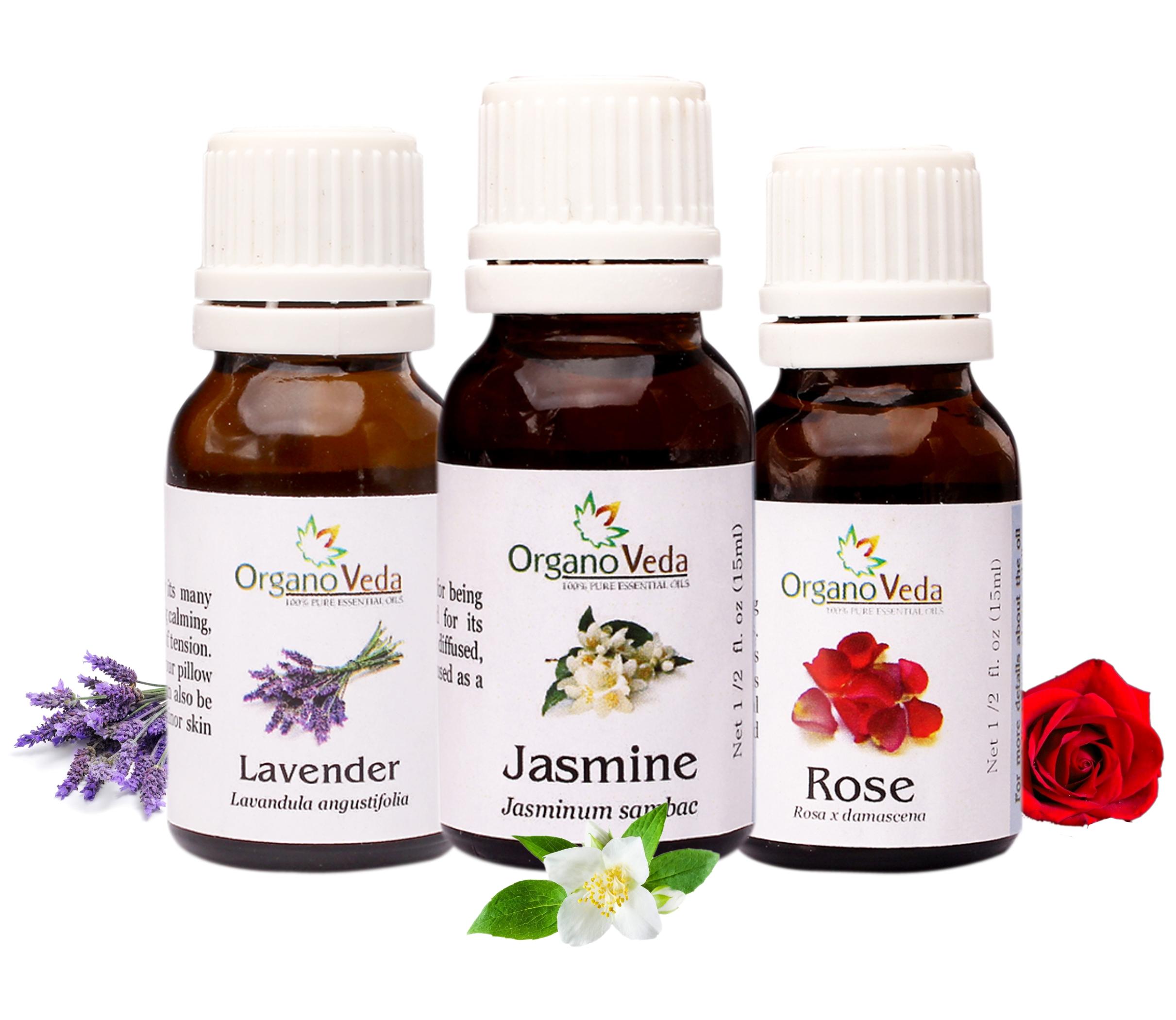 Heavy exotic florals lavender jasmine rose essential oils combo on sale izmirmasajfo